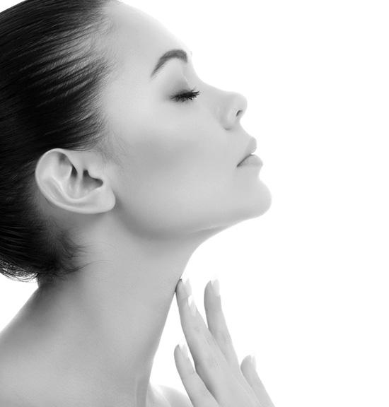 Double menton : ovale du visage